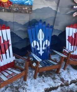 Canada & Quebec Flag Adirondack Ski Chairs