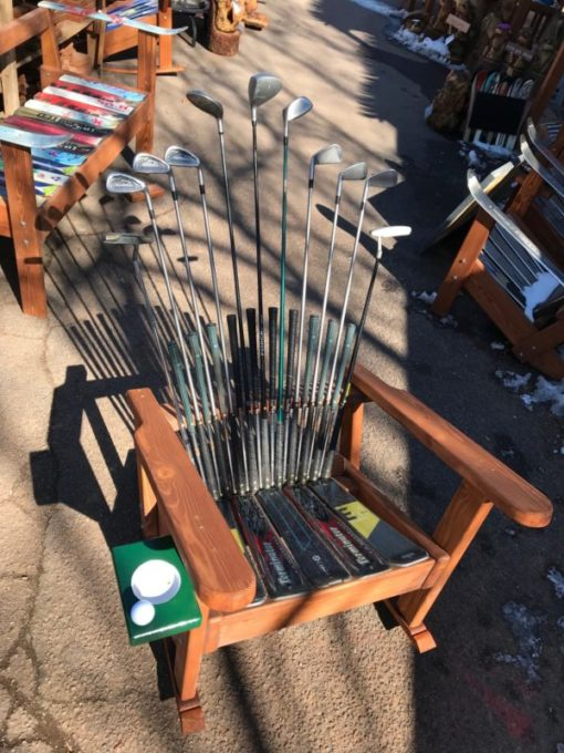 Adirondack Golf Rocking Chairs -Deluxe with putting green cupholder
