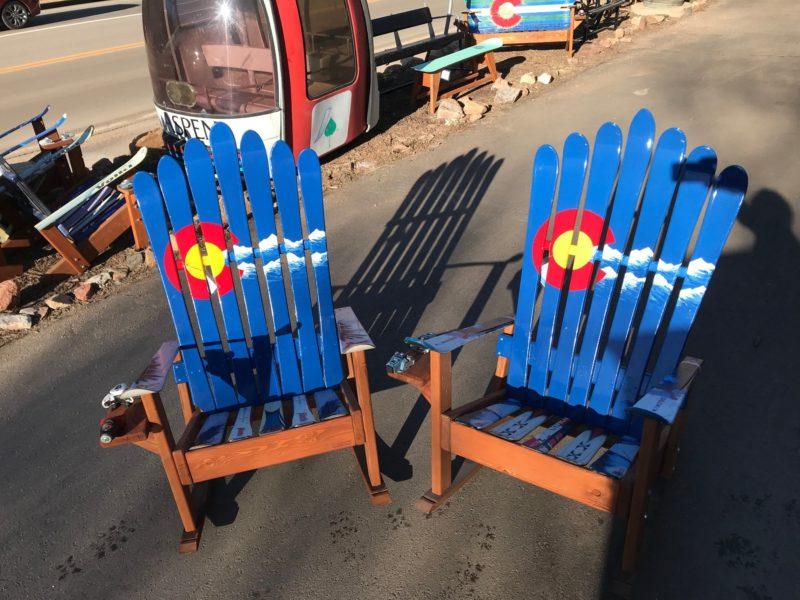 Brilliant Colorado Flag Mountain Stripe Adirondack Ski Chair Short Links Chair Design For Home Short Linksinfo