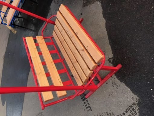 Repurposed Red Skilift Chairlift Bench