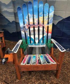 VW van bus mountain mural chair