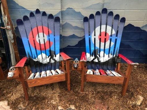Colorado Sasquatch Bigfoot Adirondack Ski Chairs