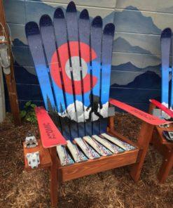 Colorado Sasquatch Bigfoot Adirondack Ski Chairs