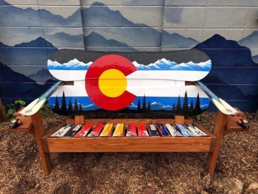 Colorado Flag Adirondack Snowboard Bench