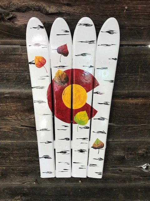 Falling Leaves Colorado Aspen Leaf Mural Ski Wall Art