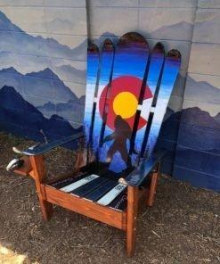 Super Giant Sasquatch Bigfoot Colorado Flag Hybrid Chair Short Links Chair Design For Home Short Linksinfo